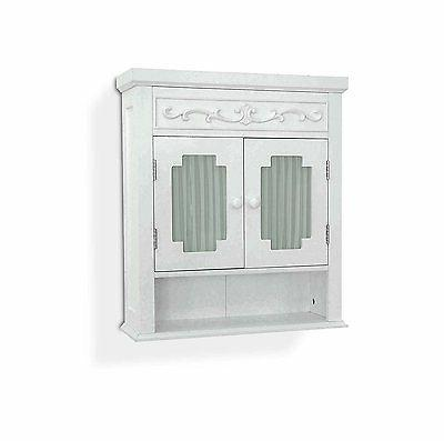 bathroom wall cabinet mounted glass doors storage
