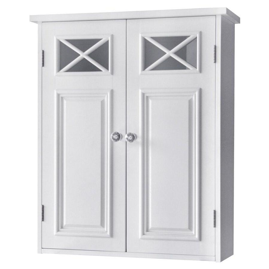 bathroom wall storage white cabinet with 2