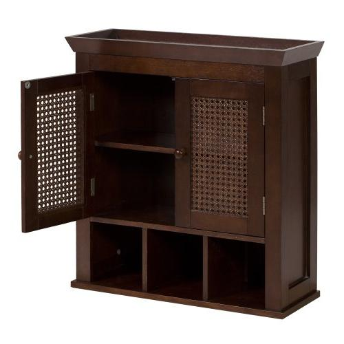 cane 2 door wall cabinet