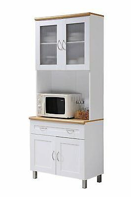 Hodedah HIKF92 Kitchen Cabinet with Large Open Space & 1 Dra