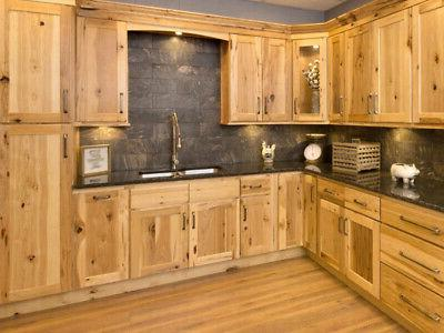 Country Hickory Shaker Kitchen Cabinets-Sample-RTA-All wood,