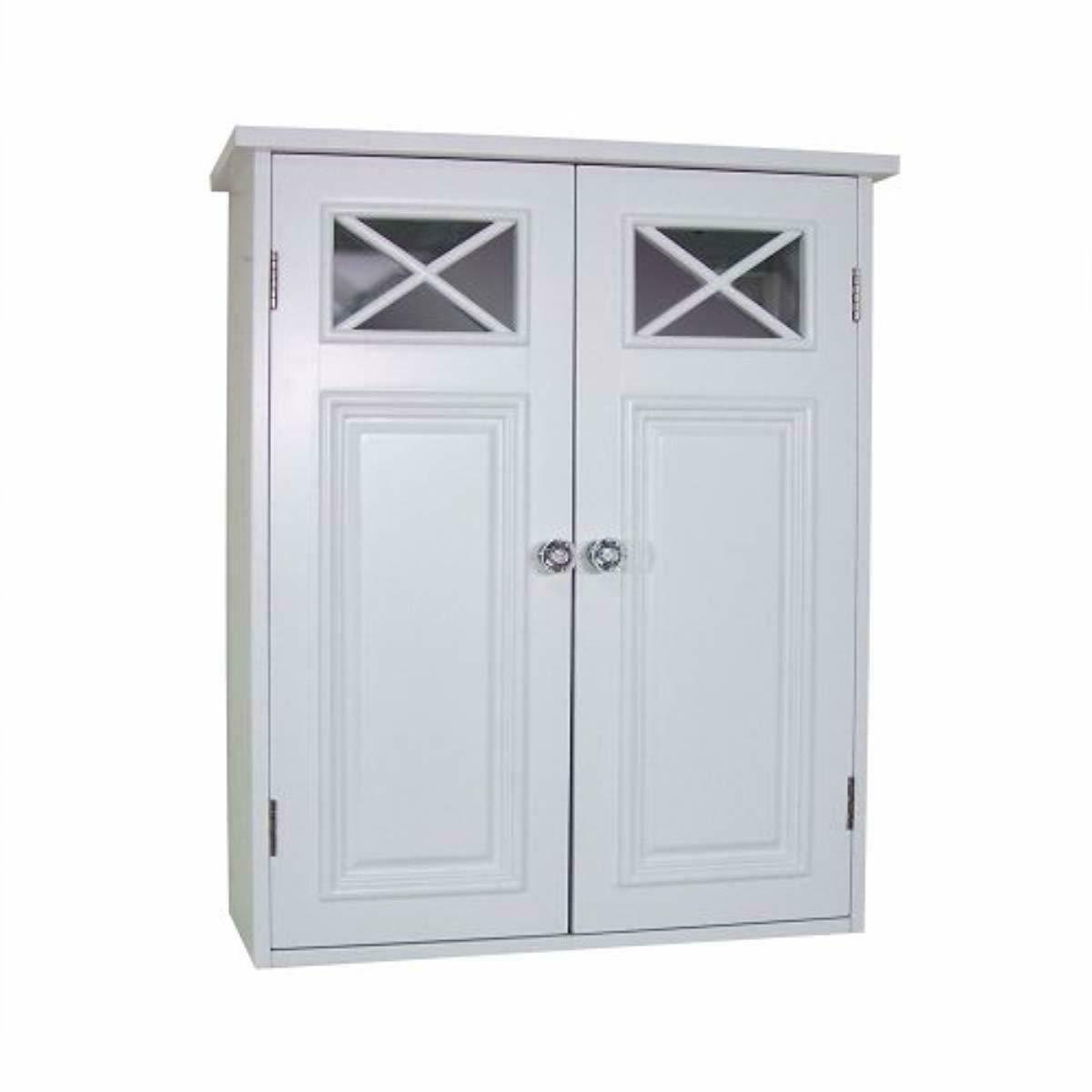 dawson collection shelved wall cabinet white new