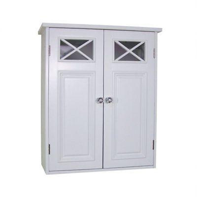 dawson collection shelved wall cabinet white