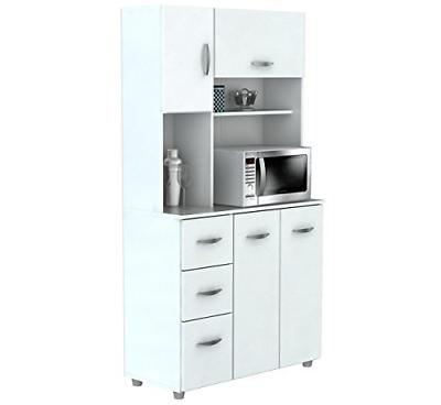 Inval Door Storage Cabinet with Microwave Laricina
