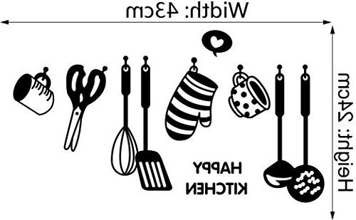 BIBITIME HAPPY Sayings Quotes of cooking Cups Glove Turner Kitchen