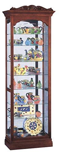 Howard Miller 680-342  Hastings Lighted Curio Cabinet - Wind