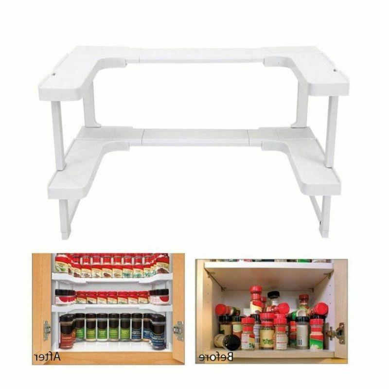 Home Adjustable 2 Layers Kitchen Cupboard