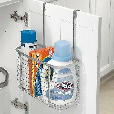 """iDesign Steel Over-the-Cabinet Storage x x 13.8"""", Silver"""