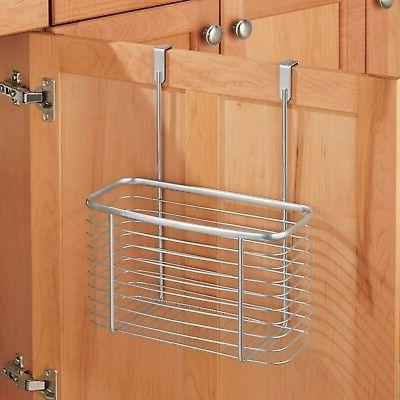 """iDesign Over-the-Cabinet Storage Basket - x x 13.8"""", Silver"""