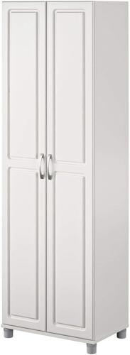 """SystemBuild Kendall 24"""" Utility Storage Cabinet, White"""