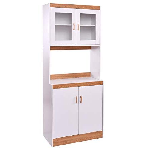 kitchen cabinet microwave counter pantry