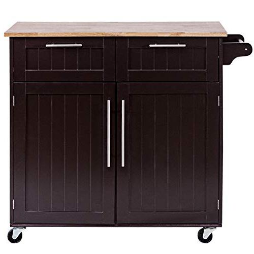 Giantex Rolling Trolley Home Utility Cart Towel Rack and Top
