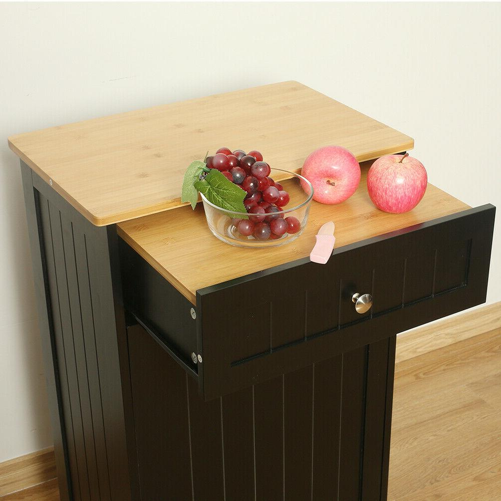 Kitchen Cabinet W/ Bamboo Can US