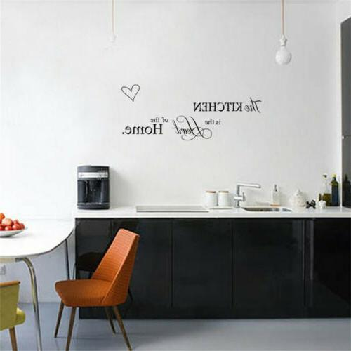 Kitchen words Wall Quote Stickers Cake Cafe wall Decals Decor DIY_US