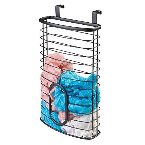 mDesign Metal Over Cabinet Kitchen Storage Organizer Holder
