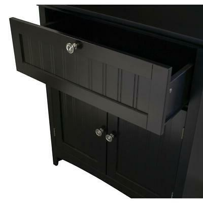Microwave/Coffee Cabinet 2-Doors Black