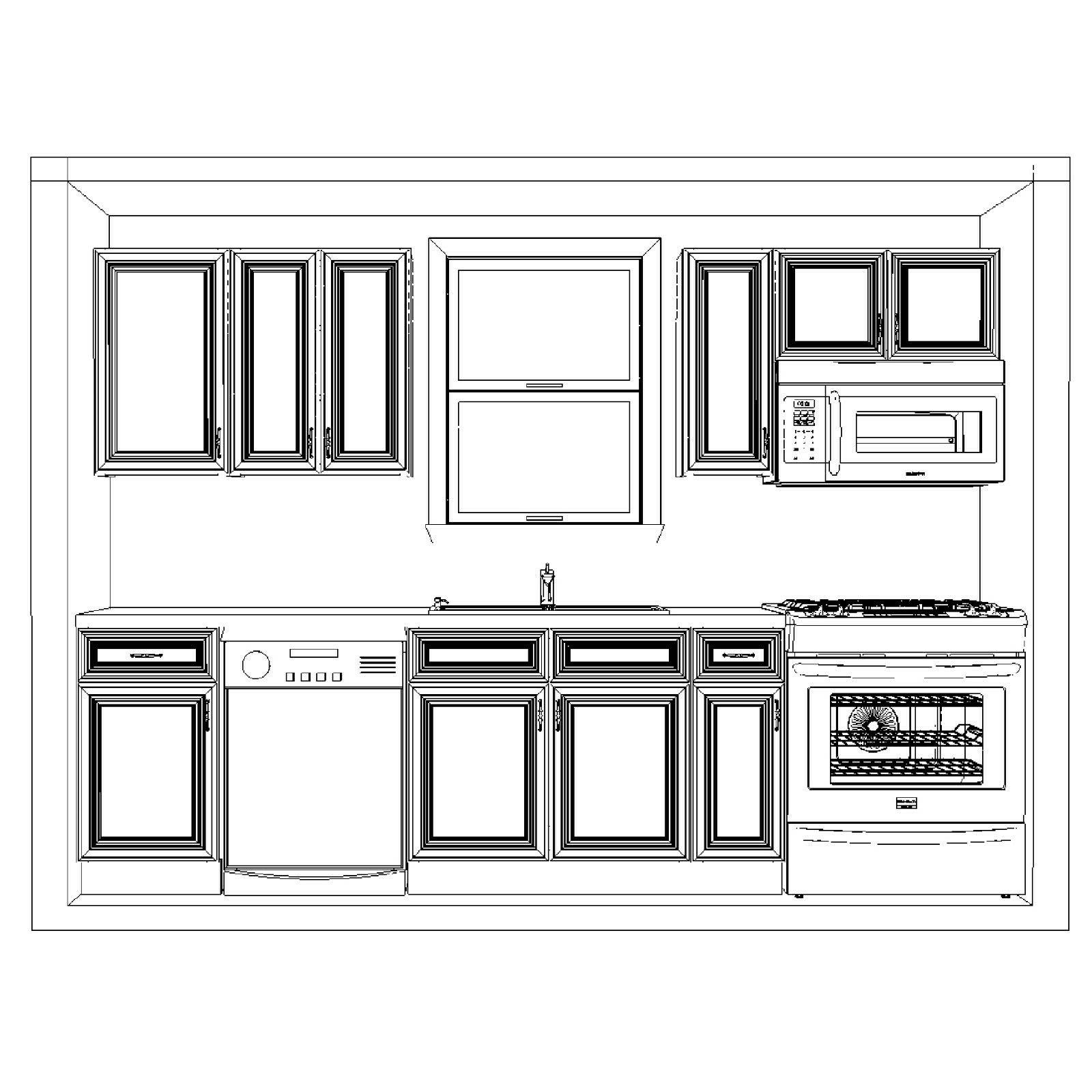 Lily Ann Cabinets 10 Foot Wood Cabinets Chocolate