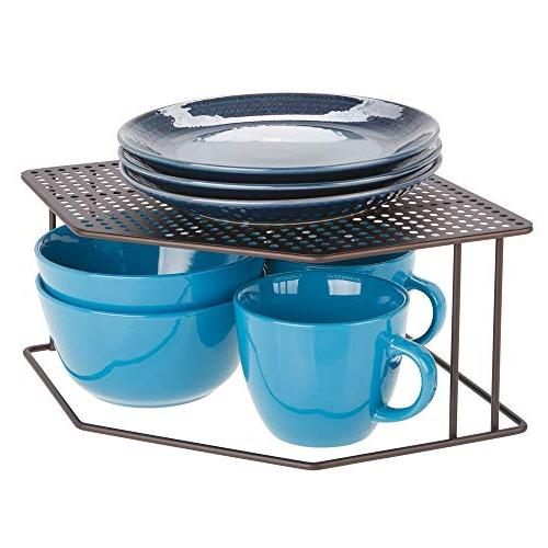 mDesign Corner 2 Tier for Dishes, Baking Supplies, Goods,