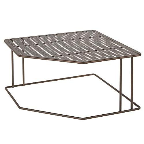 mDesign Metal Corner Tier for Kitchen Cabinet, Pantry, Shelf, - Dishes, Supplies, Canned
