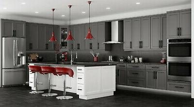 Shaker Gray Cabinets All wood, stock
