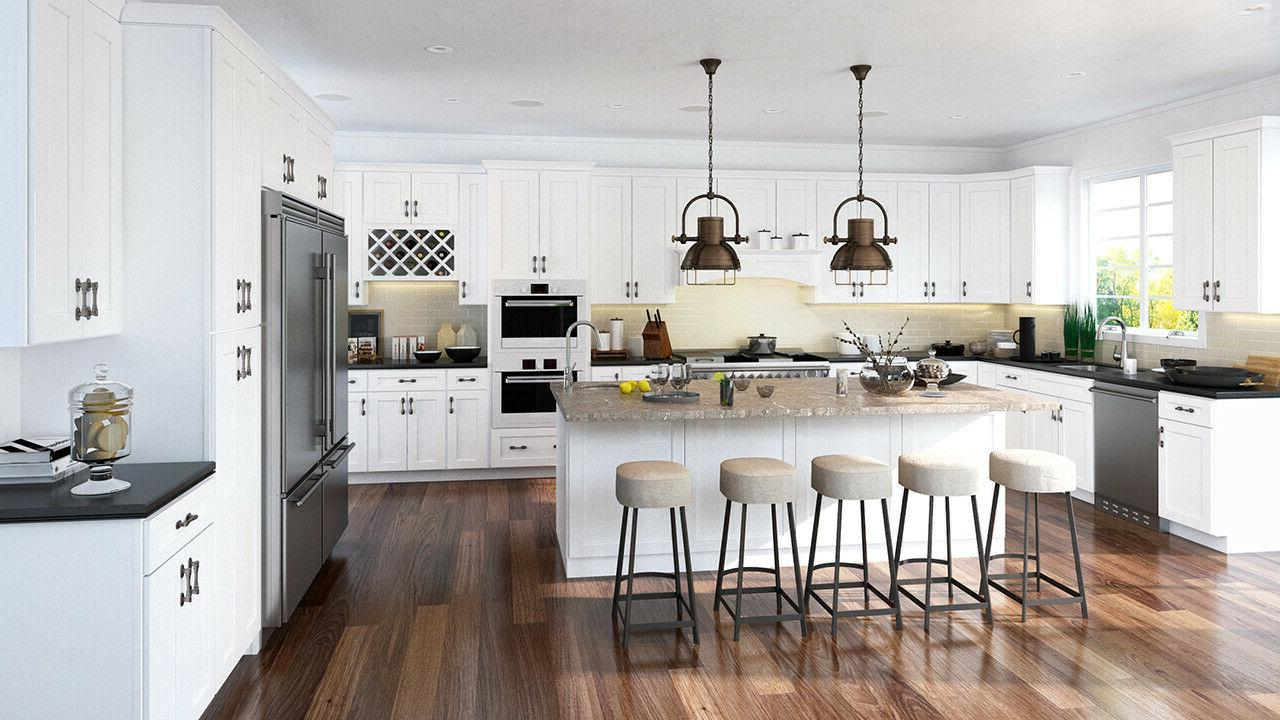 shaker white kitchen cabinets maple wood 90