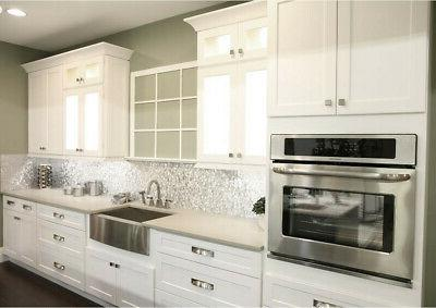 Shaker White Kitchen Cabinets-Sample-RTA-All wood, in stock