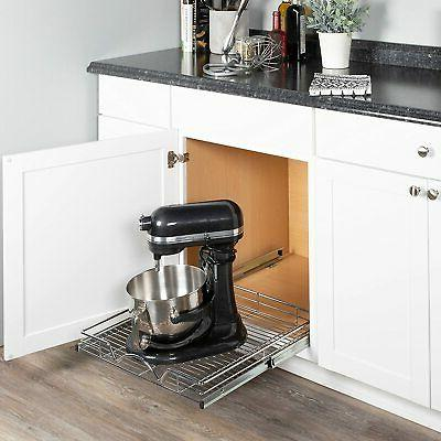 Slide Out Kitchen Storage Shelves and Organizer