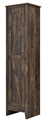 Tall Narrow Storage Cabinet Rustic Farmhouse Style Food Pant