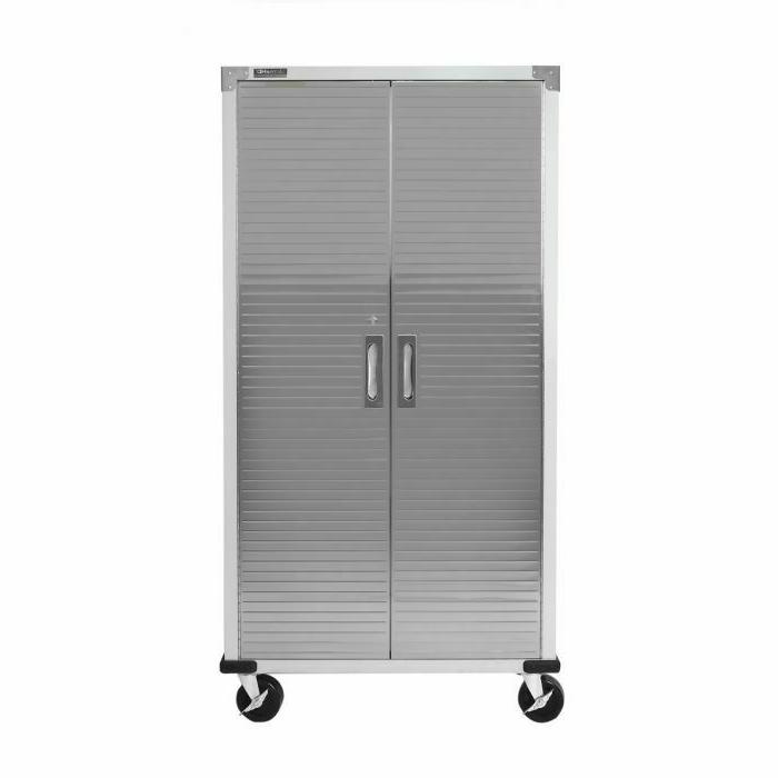 Seville Storage Cabinet, Gray, Free shipping