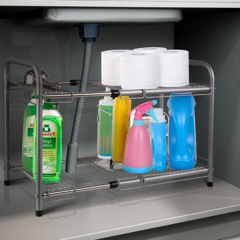 HOMFA Under Sink Cabinet Organizer Kitchen and Bath
