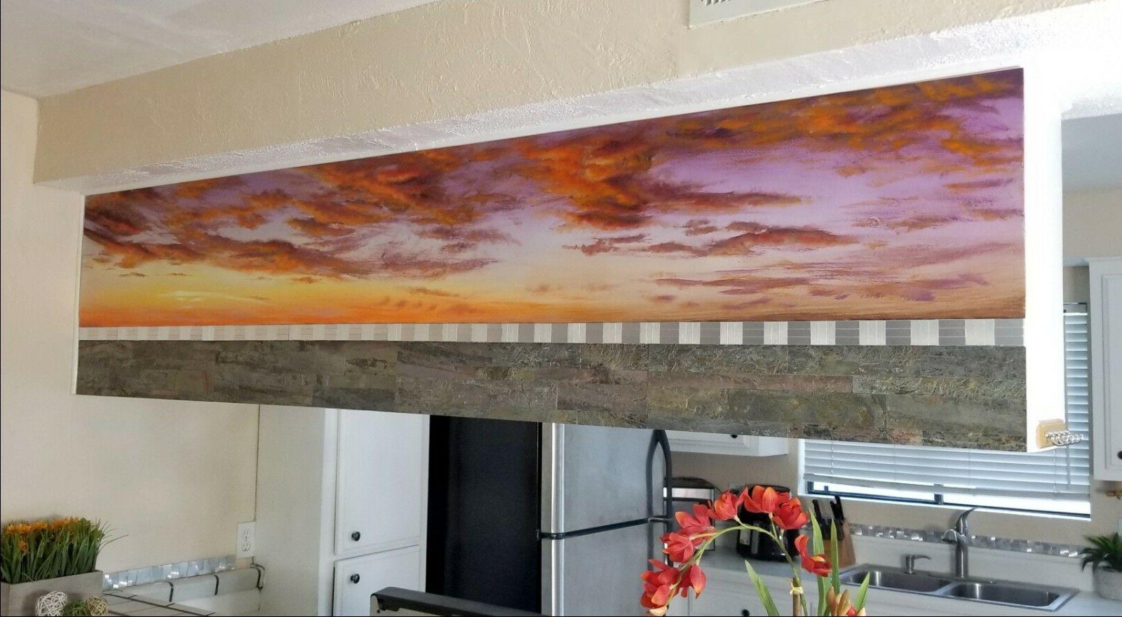 wall painting mural mosaic and stone kitchen