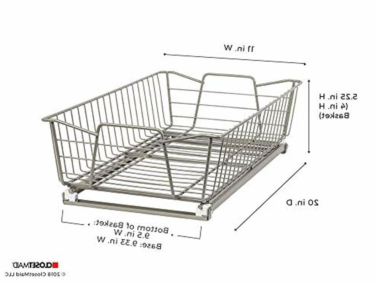 Wide Organizer Nickel 11 Sliding Basket for Cabinets