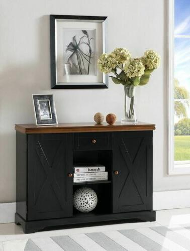 wood buffet cabinet console table