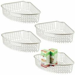 mDesign Lazy Susan Storage Baskets with Handle for Kitchen C