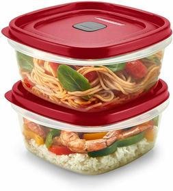 LOT OF 2 CONTAINERS RUBBERMAID EASY FIND VENTED FOOD STORAGE