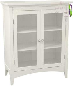 Elegant Home Fashions Madison Collection Shelved Double-Door