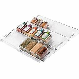 mDesign Expandable Spice Rack Organizer for Kitchen Drawer -