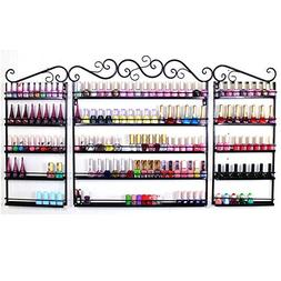 go2buy 3PCS Nail Polish Rack Wall Mounted Makeup Organizer,