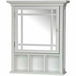 """Neal Collection Mirrored Medicine Cabinet, White Kitchen """" D"""