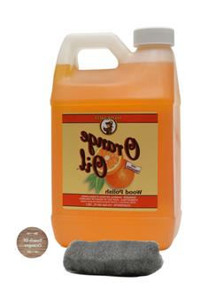 Howard Orange Oil 64 Ounce Half Gallon, Clean Kitchen Cabine