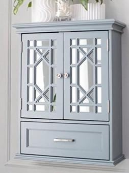 Bathroom Wall Cabinet Organizer - Double Door, Gray