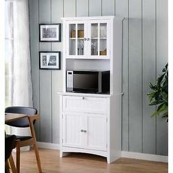 OS Home and Office Buffet and Hutch with Framed Glass Doors