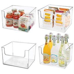 mDesign Plastic Open Front Food Storage Bin for Kitchen Cabi