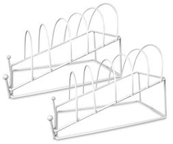 BANBERRY DESIGNS Plate Holder - White 6 Place Plate Stand -