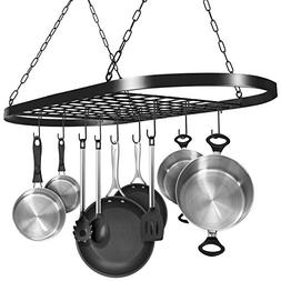 Sorbus Pot and Pan Rack for Ceiling with Hooks — Decorativ