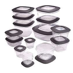 Rubbermaid Premier Crystal Clear Stain Resistant 30 Piece Se