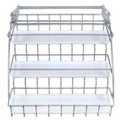 Rubbermaid Pull Down White Spice Rack and Satin Nickel, Clea