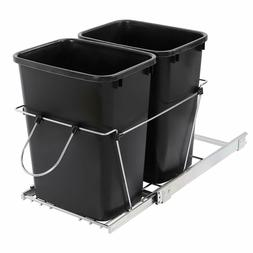 Waste Container Double Garbage Can 35 Quart Pull Out Trash K