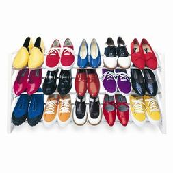 15 Pair Shoe Rack Organizer Stands Upright or Flat
