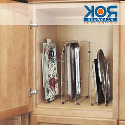 """Rev-A-Shelf 18"""" Tray Divider with Mounting Clips, Chrome, 59"""